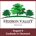 August 6, 2016 - Cocktails in Clermont at Hudson Valley Distillers Announcing Chancellor's Malt Whisky