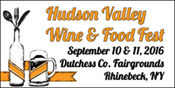 September 10, 11, 2016 - Hudson Valley Wine & Food Fest