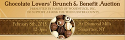 February 8 - Family of Woodstock's Annual Chocolate Lovers' Brunch and Benefit Auction