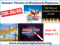 2015 Summer Theatre at the Woodstock Playhouse